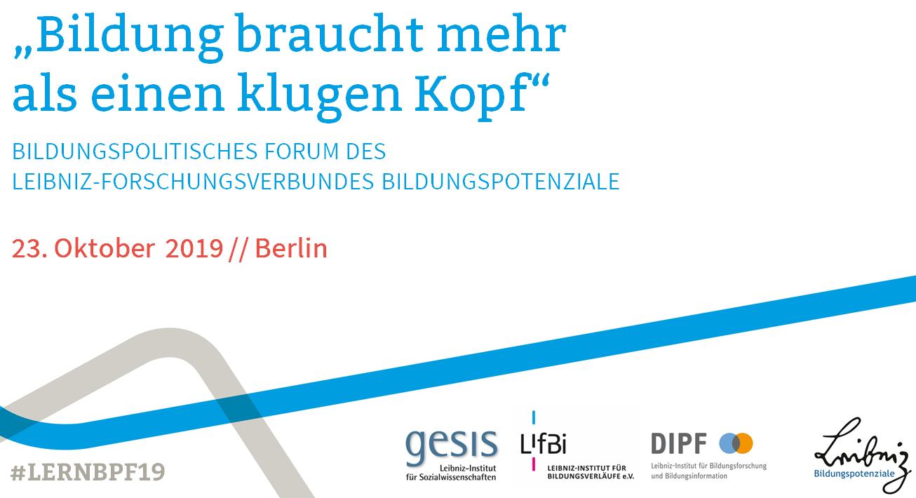 Poster Bildungspolitsches Forum 2019