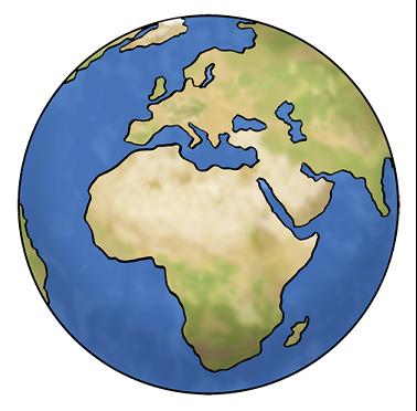 Zeichnung Weltkugel